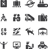 Airport Silhouette icons 2 | EPS10