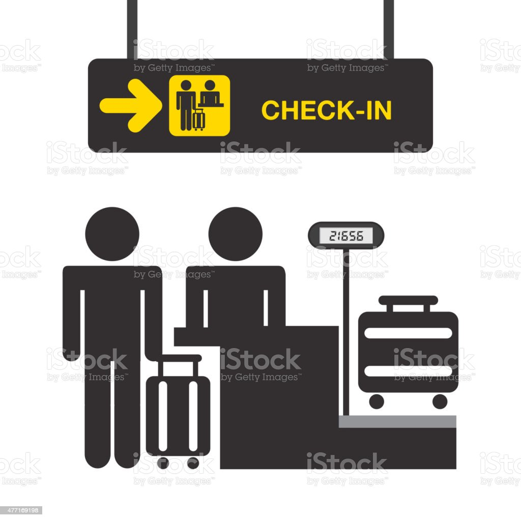 airport terminal vector art illustration