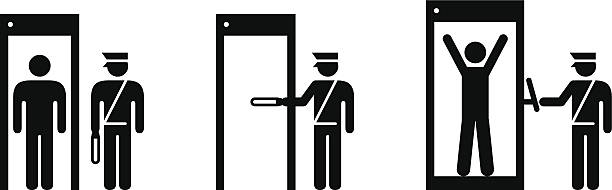 Royalty free airport security check clip art vector