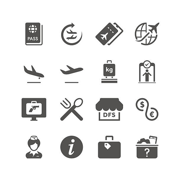 Airport | Unique Series Unique airport related icon can beautify your designs & graphic private airplane stock illustrations