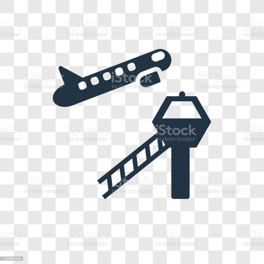 Airport Vector Icon Isolated On Transparent Background Airport