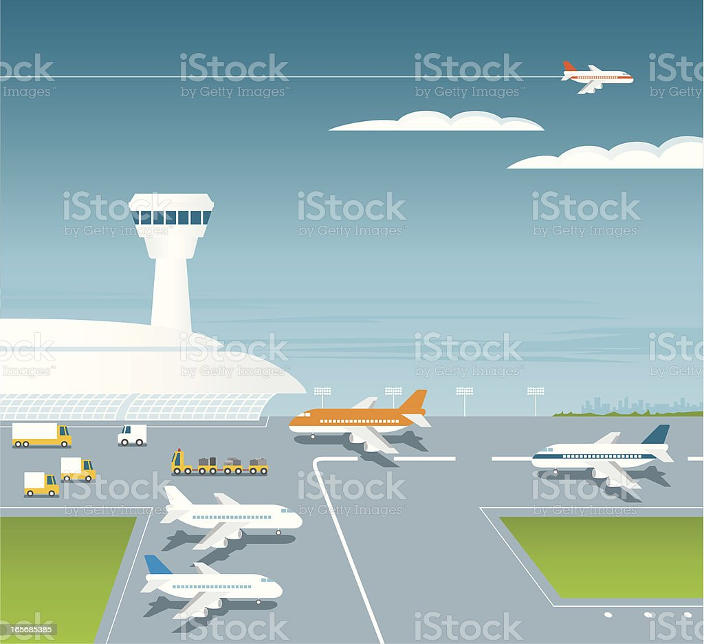 L'aéroport - Illustration vectorielle