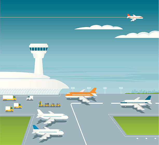 airport - airport stock illustrations
