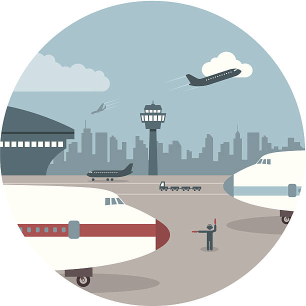 airport - business travel stock illustrations, clip art, cartoons, & icons