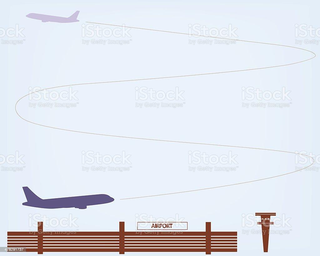 Airport royalty-free stock vector art