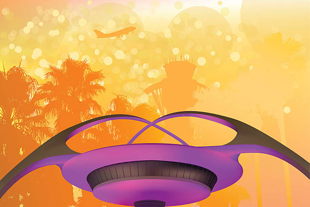 LAX Airport LAX Airport airport backgrounds stock illustrations
