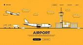 istock Airport Web Banner Illustration 1307195032