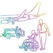 istock Airport Wheelchair Assistance Rainbow 1271469562
