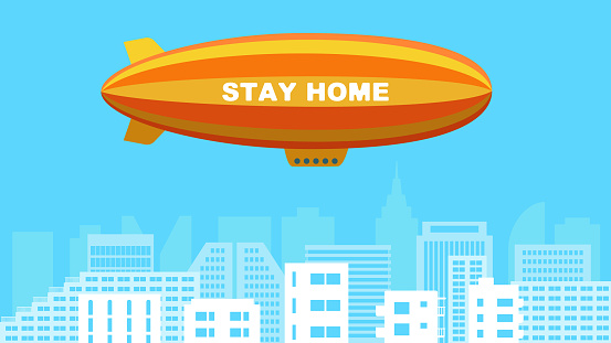 Airship advertising for stay home