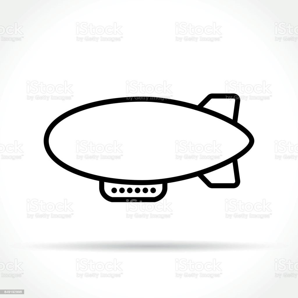 airship icon on white background vector art illustration