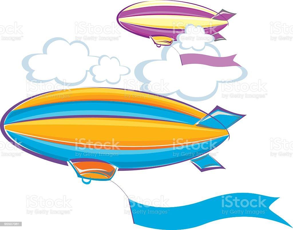 airship vector art illustration