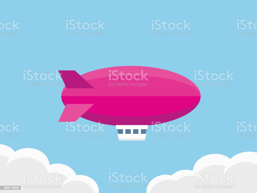 Airship vector illustration vector art illustration