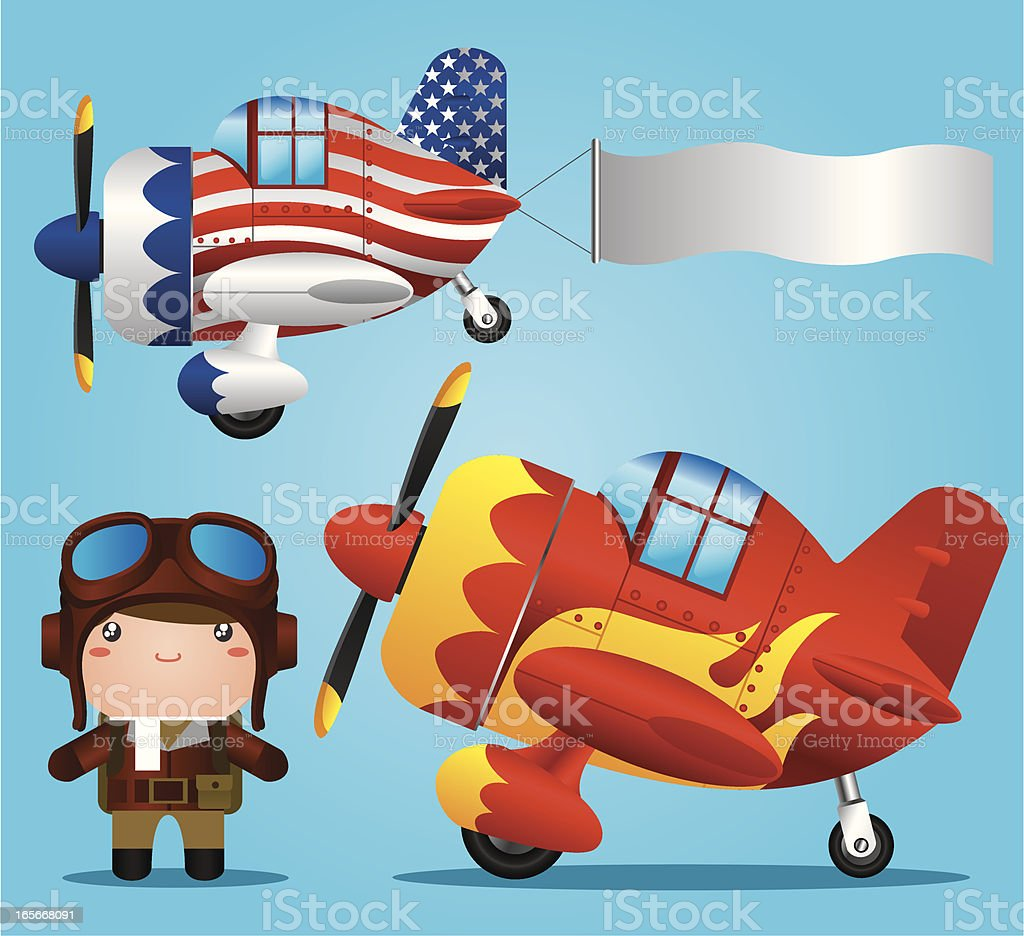 Airshow royalty-free stock vector art