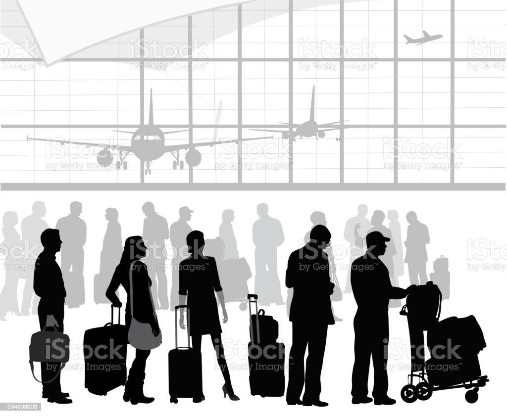 AirTravelPatients vector art illustration