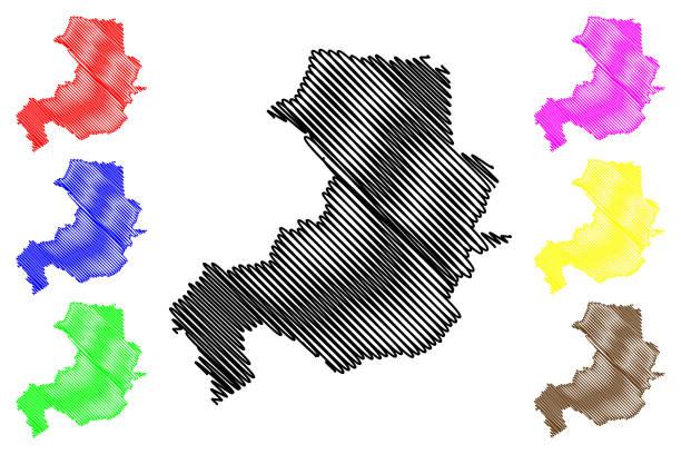 illustrations, cliparts, dessins animés et icônes de aix-en-provence ville (français république, france) carte vectorielle illustration, scribble sketch ville d'aix en provence carte - aix en provence