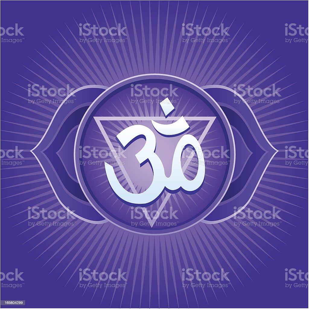 Ajna Chakra royalty-free stock vector art