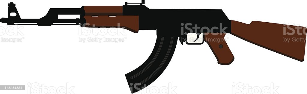 ak 47 assault rifle royalty-free stock vector art