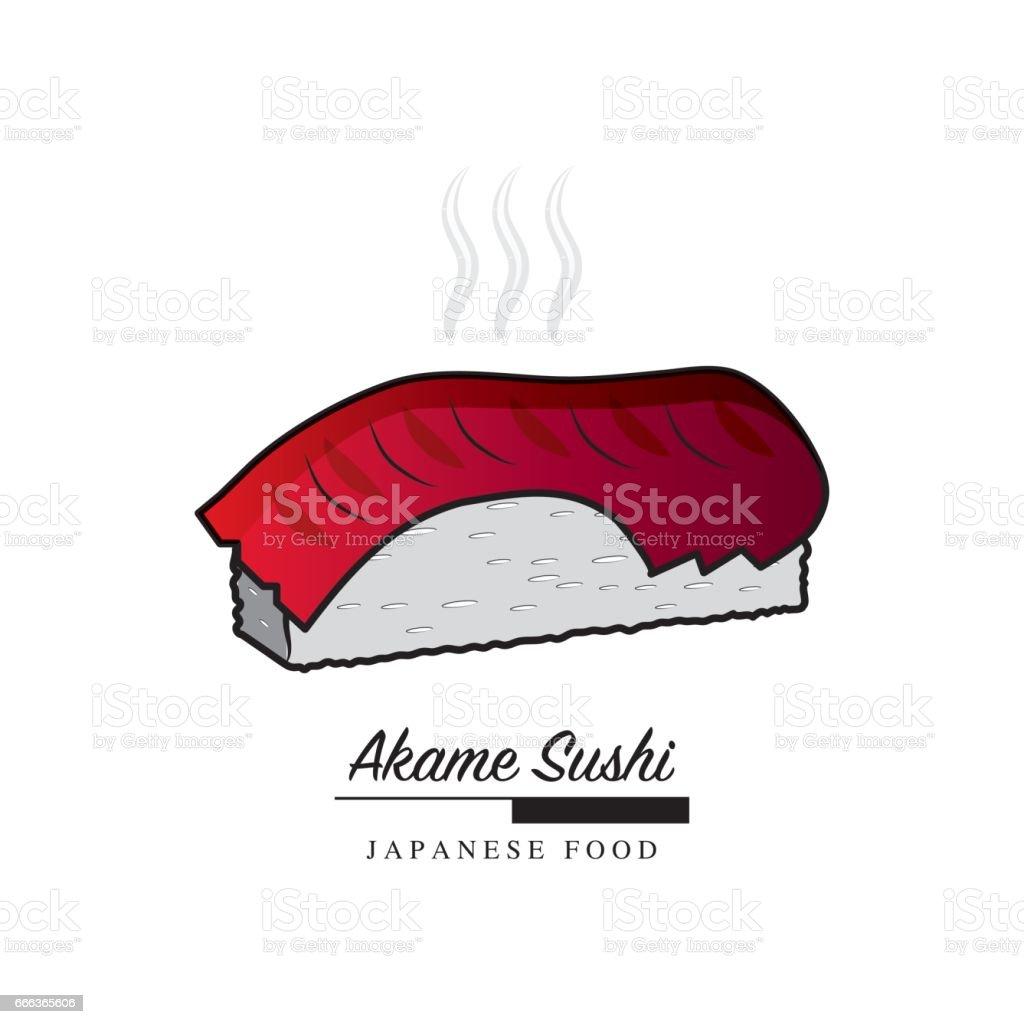 Ilustración de Icono De Comida Japonesa Sushi De Akame Con Espacio ...