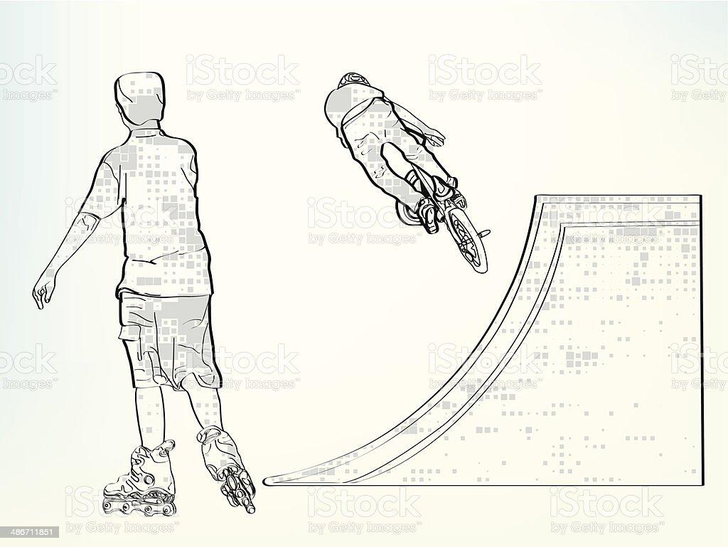 Akrobat vector art illustration