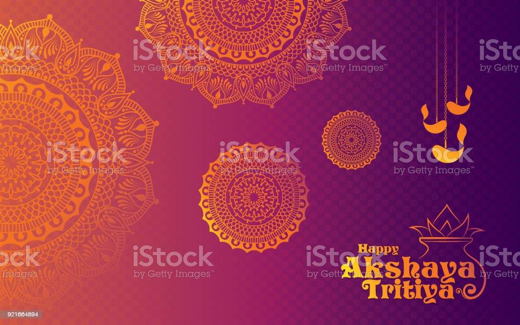 Akshaya Tritiya Festival Background vector art illustration