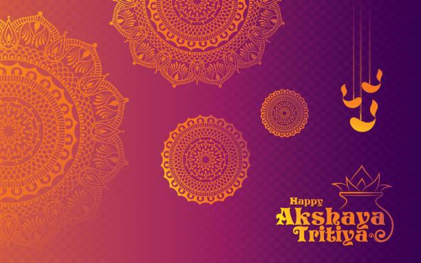 stockillustraties, clipart, cartoons en iconen met akshaya tritiya festival achtergrond - indiase cultuur