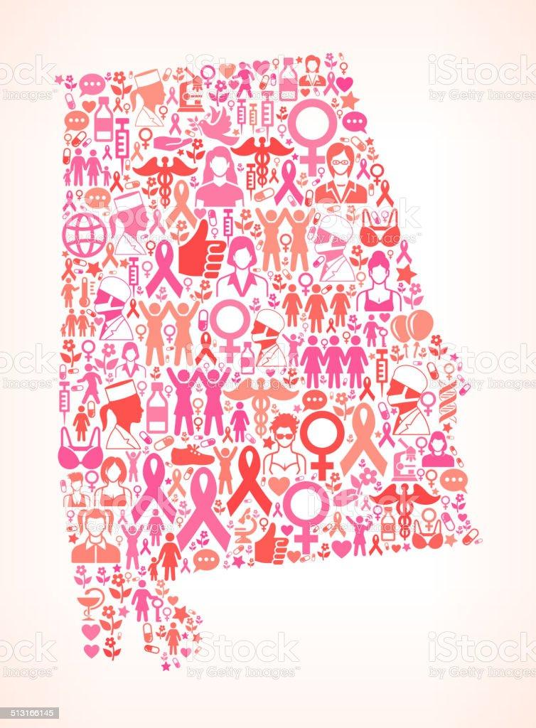 Alabama Breast Cancer Awareness royalty free vector art Pattern  royalty-free alabama breast cancer awareness