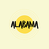 Alabama Lettering Design