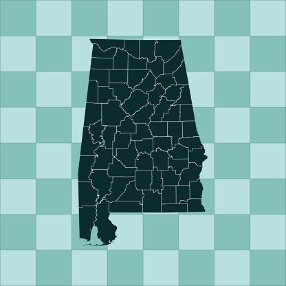 Alabama Map - Stockowe grafiki wektorowe i więcej obrazów Ameryka Północna