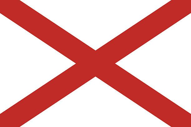 флаг штата алабама - alabama stock illustrations