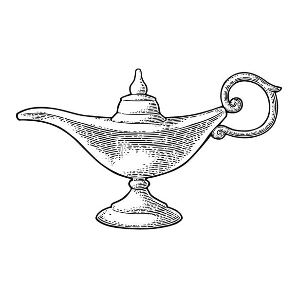 Best Genie Bottle Illustrations, Royalty-Free Vector
