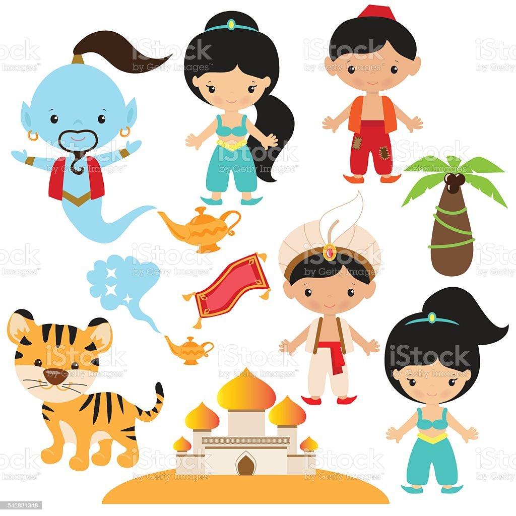 Aladdin vector illustration vector art illustration