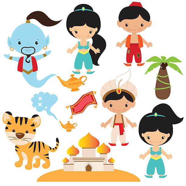 Royalty free aladdin clip art vector images for Aladdin carpet vector