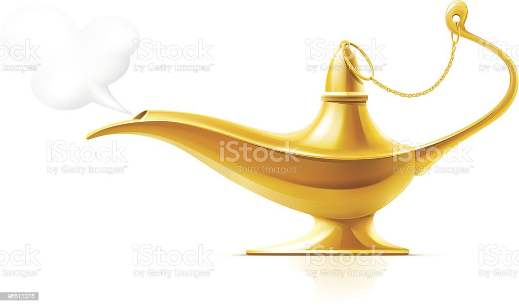 Aladdin's Magic Lamp - Royalty-free Antique stock vector
