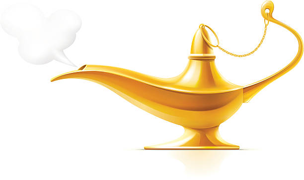 Aladdin's Magic Lamp vector art illustration