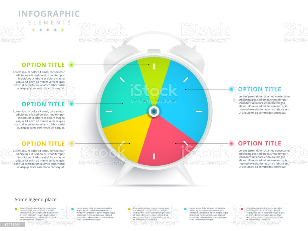 Alarm clock 5 step business process pie chart infographics creative alarm clock 5 step business process pie chart infographics creative corporate workflow circle graph elements ccuart Image collections