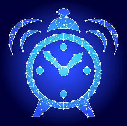 Alarm Clock   Blue Triangle Node Vector Pattern