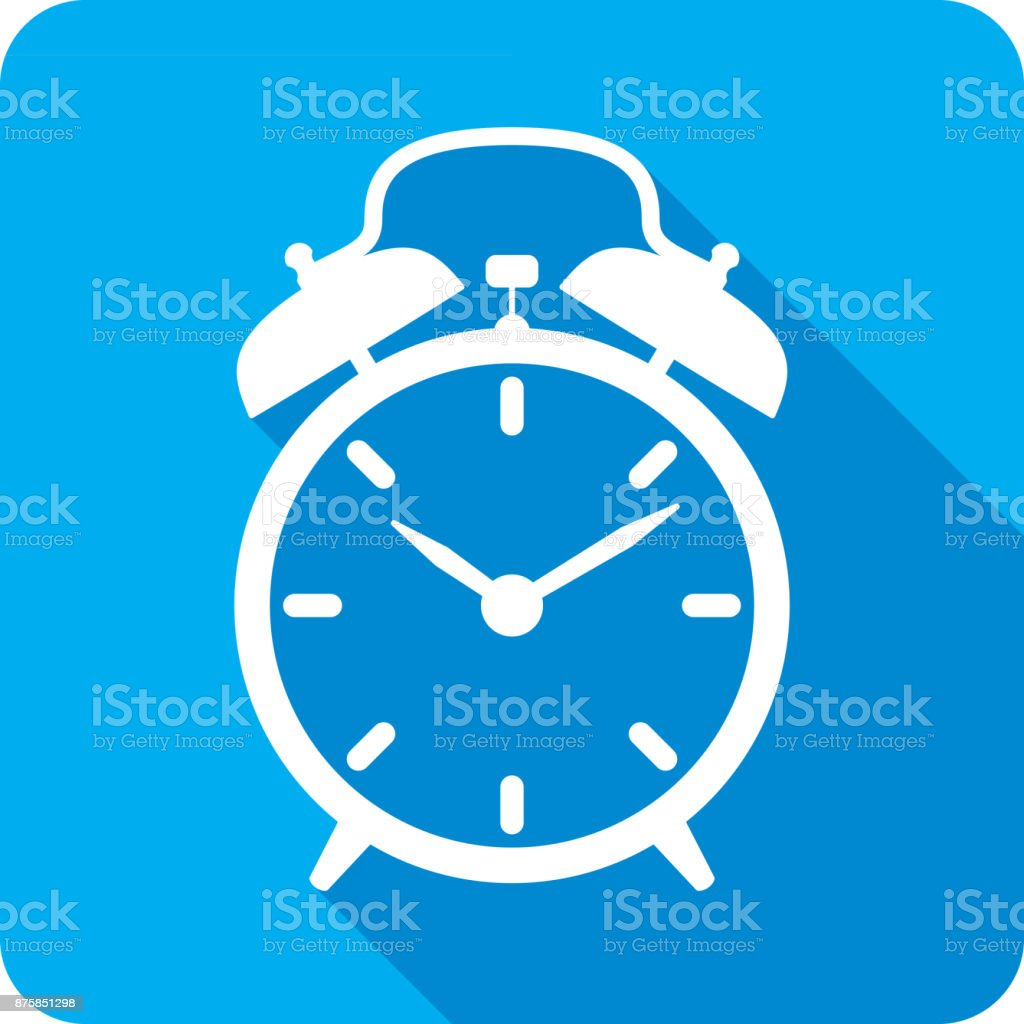 Alarm Clock Icon Silhouette vector art illustration