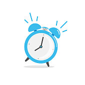 istock Alarm Clock Icon. Wake Up Time Vector Design on White Background. 1213927716