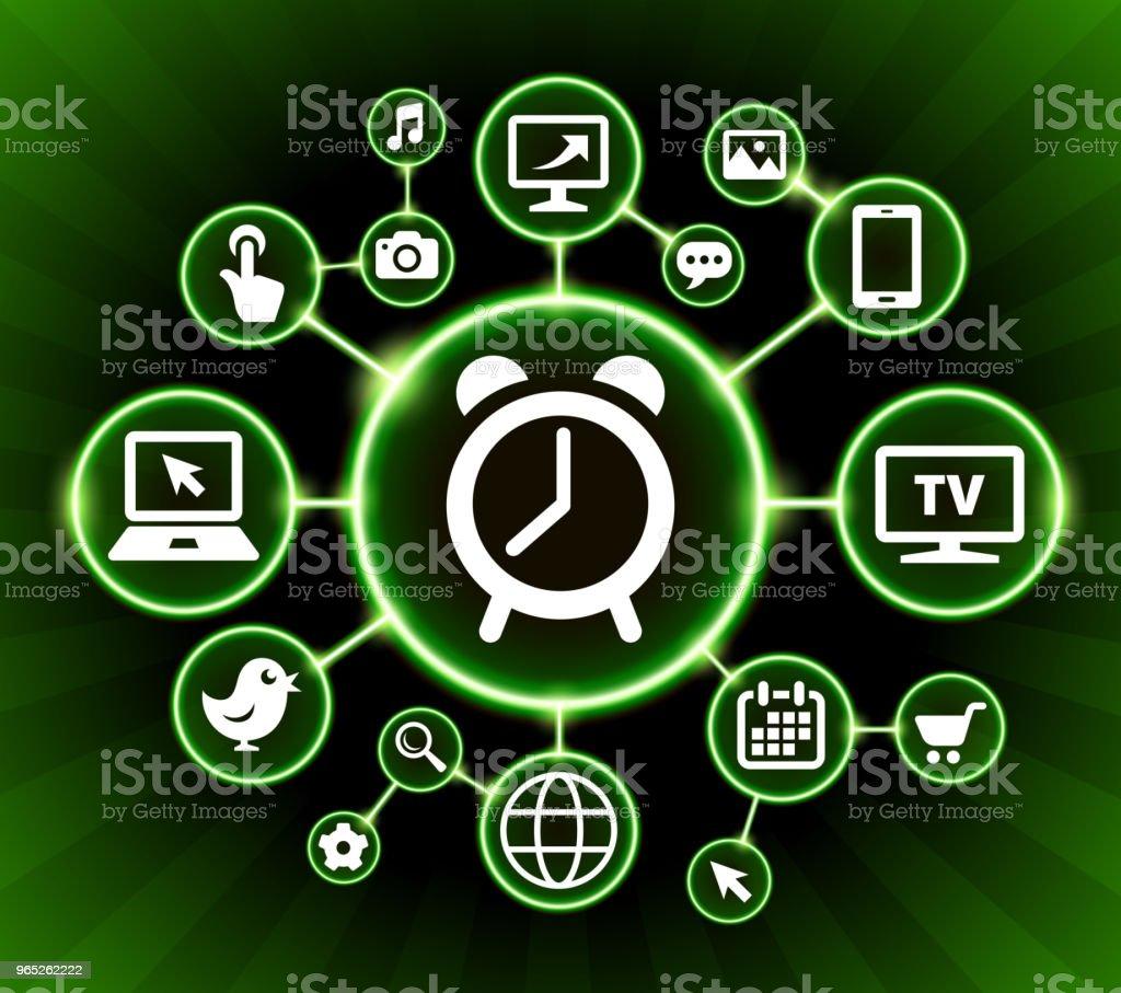 Alarm Clock Internet Communication Technology Dark Buttons Background royalty-free alarm clock internet communication technology dark buttons background stock illustration - download image now