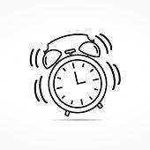 Alarm Clock Line Icon