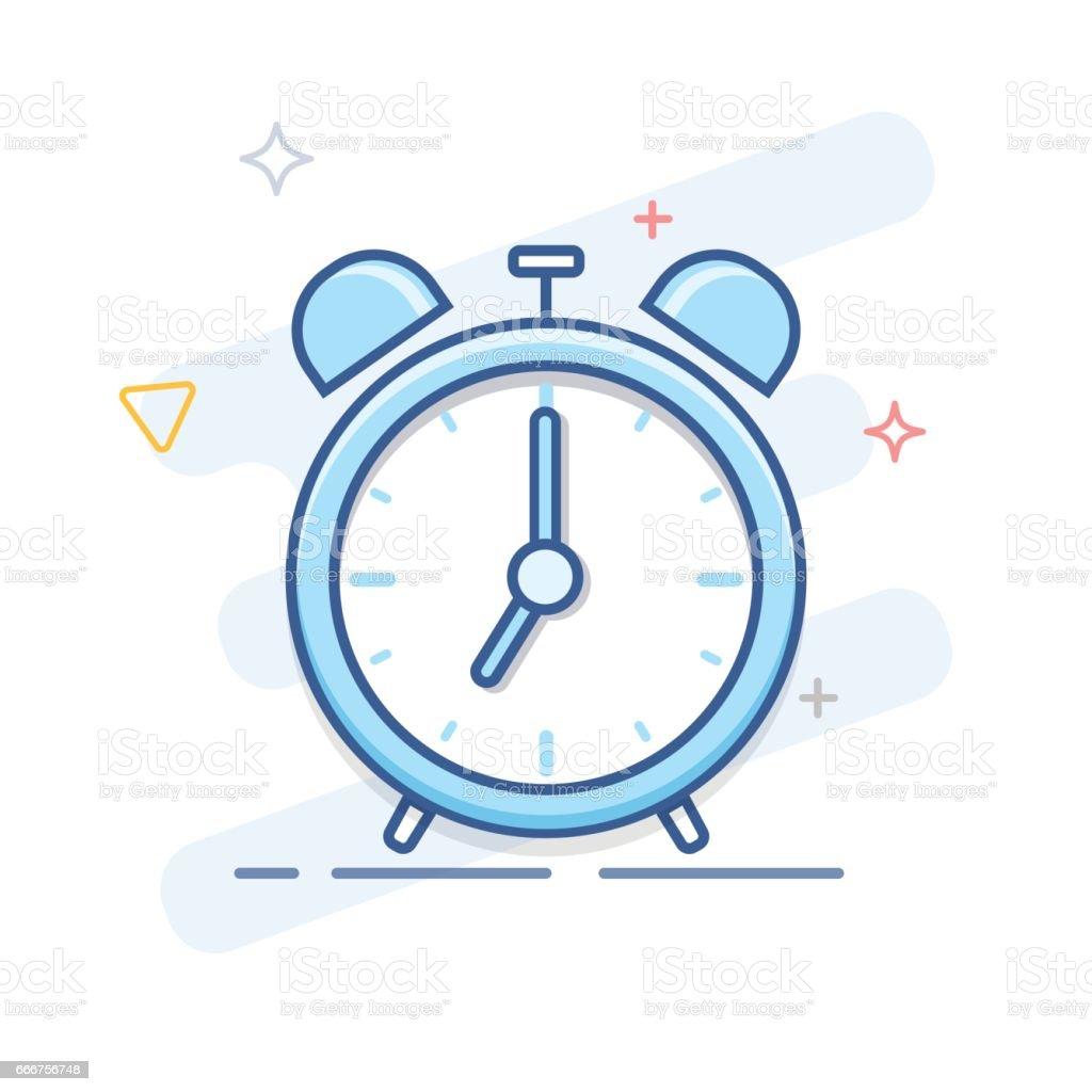 Alarm Clock Line Icon alarm clock line icon - immagini vettoriali stock e altre immagini di agenda royalty-free