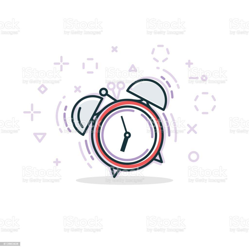 Ilustración de línea de alarma - ilustración de arte vectorial