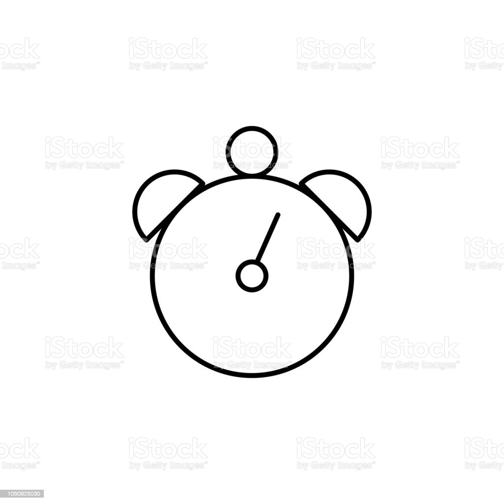 Alarm Clock Outline Icon Element Of Simple Education Icon For Mobile