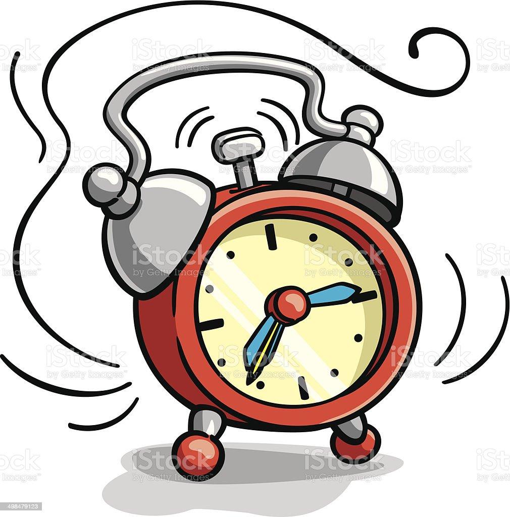 Reloj despertador sonando ilustraci n dibujo animado for Imagenes de relojes