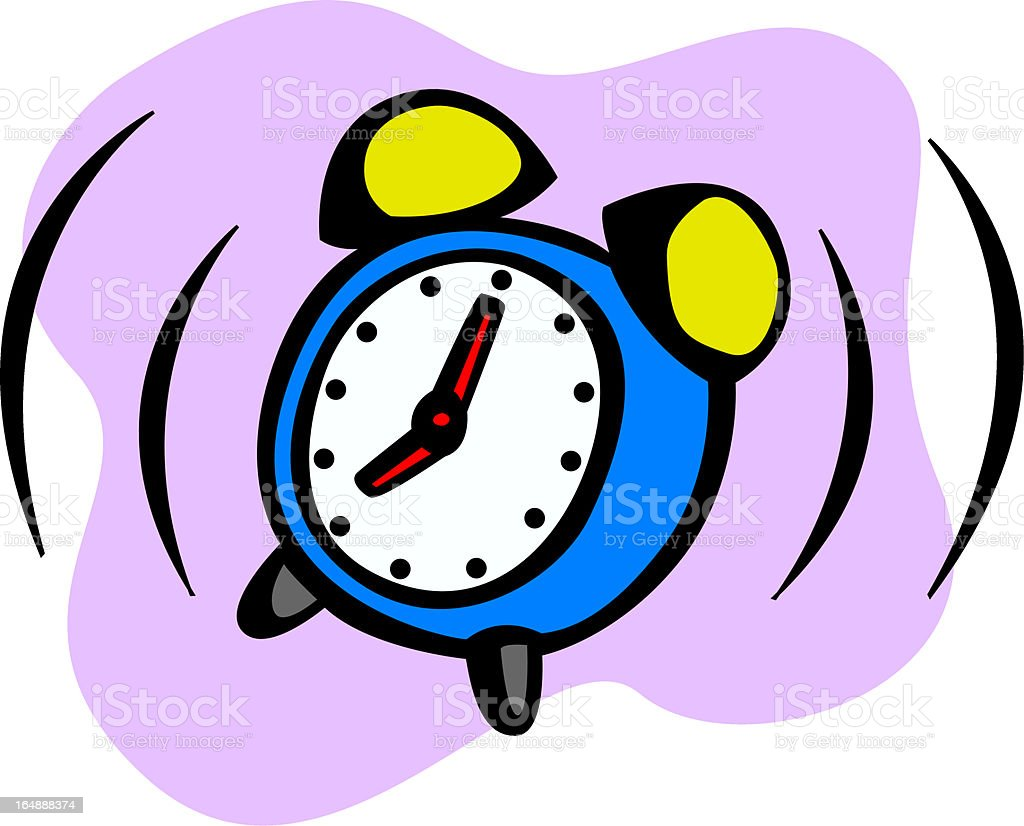 alarm clock ringing royalty-free stock vector art