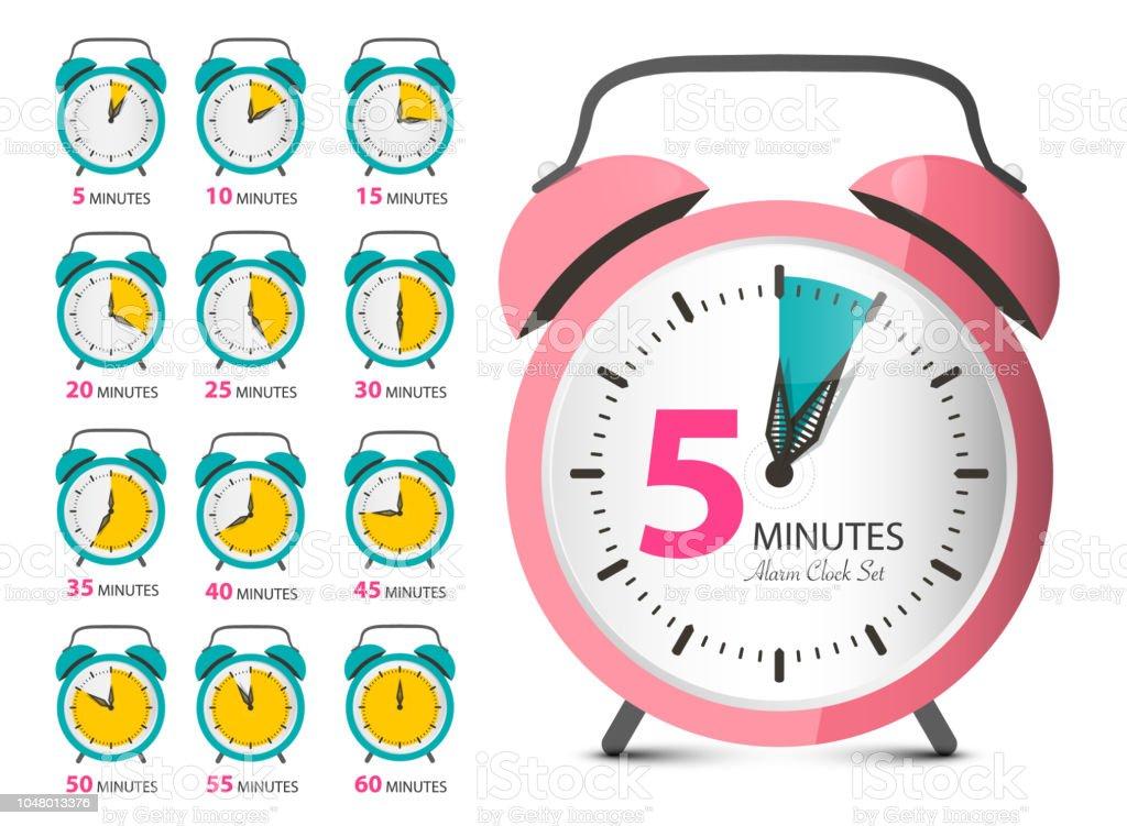 Alarm Clock Set vector art illustration