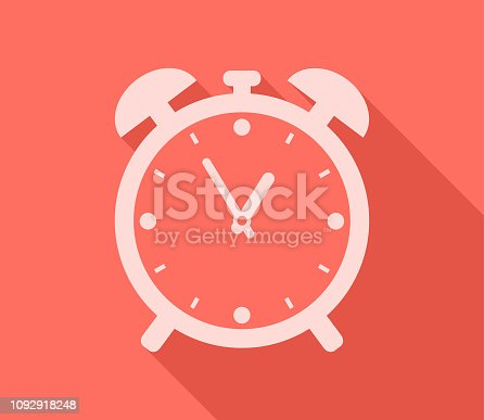 Alarm clock timer 12 showing hour minute hand and hour hand counting time.