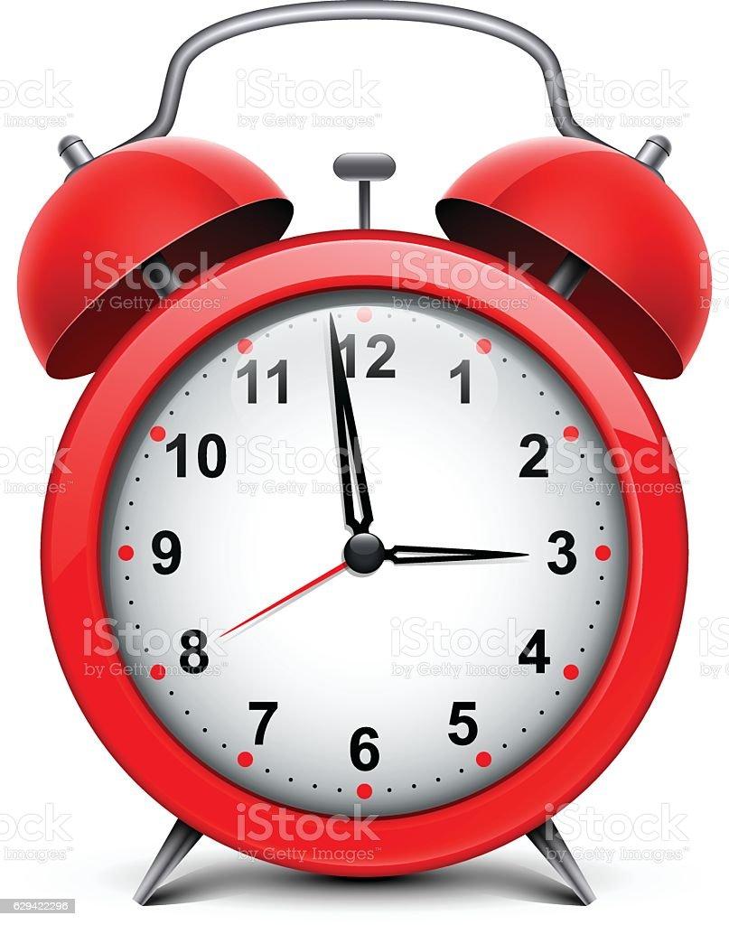 Alarm clock vector art illustration