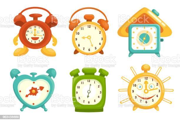 Ilustración de Reloj Despertador y más Vectores Libres de Derechos de Alarma