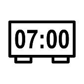 alarm clock Vector Thin Line Icon